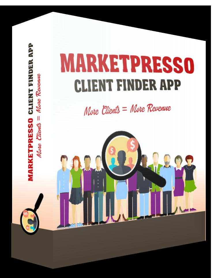 MarketPresso Client Finder App